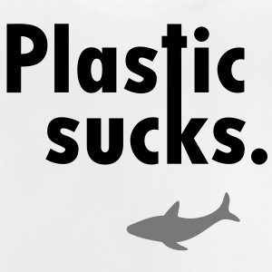 Plastic sucks ** Shark bevarelse vegetarer T-shirts - Baby T-shirt