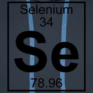 Periodic table element 34 - Se (selenium) - BIG T-shirts - Herre Premium hættetrøje