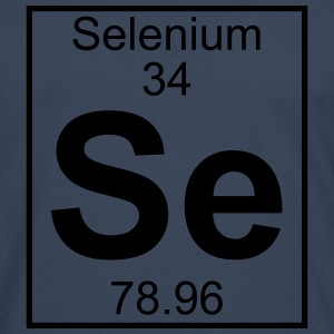 Periodic table element 34 - Se (selenium) - BIG T-shirts - Långärmad premium-T-shirt herr
