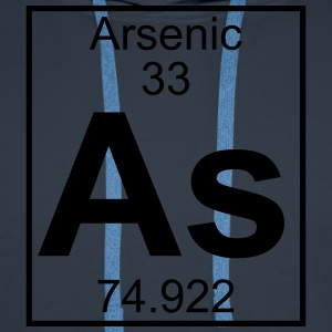 Periodic table element 33 - As (arsenic) - BIG T-shirts - Herre Premium hættetrøje