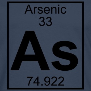 Periodic table element 33 - As (arsenic) - BIG T-shirts - Långärmad premium-T-shirt herr