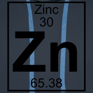 Periodic table element 30 - Zn (zinc) - BIG T-shirts - Herre Premium hættetrøje