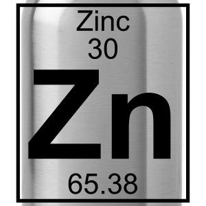 Periodic table element 30 - Zn (zinc) - BIG Koszulki - Bidon