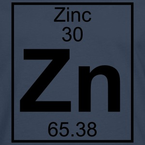 Periodic table element 30 - Zn (zinc) - BIG T-shirts - Herre premium T-shirt med lange ærmer