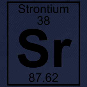 Periodic table element 38 - Sr (strontium) - BIG T-skjorter - Baseballcap