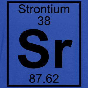 Periodic table element 38 - Sr (strontium) - BIG T-shirts - Dame tanktop fra Bella