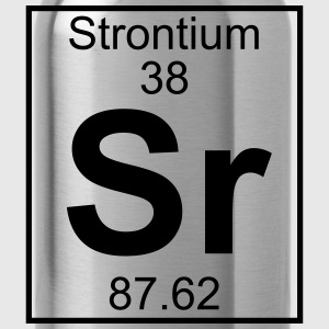 Periodic table element 38 - Sr (strontium) - BIG T-shirts - Drinkfles