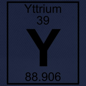 Periodic table element 39 - Y (yttrium) - BIG T-shirts - Baseballcap