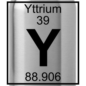 Periodic table element 39 - Y (yttrium) - BIG Koszulki - Bidon