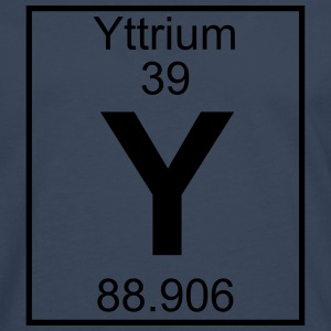 Periodic table element 39 - Y (yttrium) - BIG T-shirts - Långärmad premium-T-shirt herr