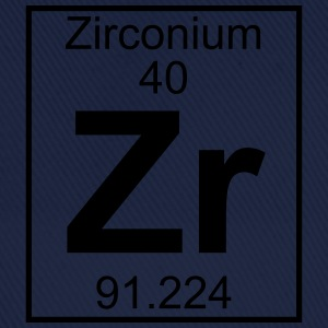 Periodic table element 40 - Zr (zirconium) - BIG T-skjorter - Baseballcap