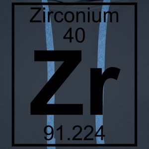 Periodic table element 40 - Zr (zirconium) - BIG T-shirts - Herre Premium hættetrøje