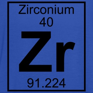 Periodic table element 40 - Zr (zirconium) - BIG T-skjorter - Singlet for kvinner fra Bella