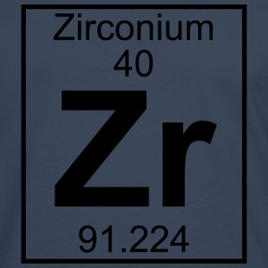 Periodic table element 40 - Zr (zirconium) - BIG T-shirts - Herre premium T-shirt med lange ærmer