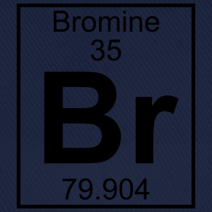 Periodic table element 35 - Br (bromine) - BIG T-skjorter - Baseballcap