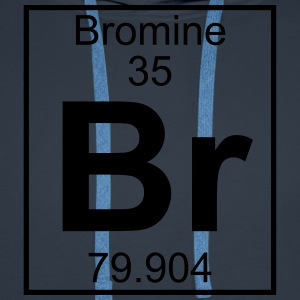 Periodic table element 35 - Br (bromine) - BIG T-shirts - Mannen Premium hoodie