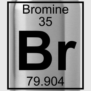 Periodic table element 35 - Br (bromine) - BIG T-shirts - Vattenflaska