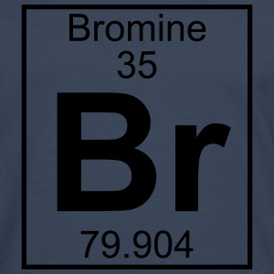 Periodic table element 35 - Br (bromine) - BIG T-shirts - Herre premium T-shirt med lange ærmer