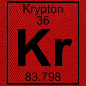 Periodic table element 36 - Kr (krypton) - BIG T-shirts - Snapbackkeps