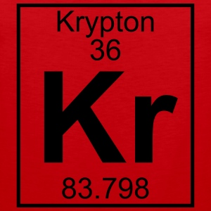 Periodic table element 36 - Kr (krypton) - BIG T-shirts - Herre Premium tanktop