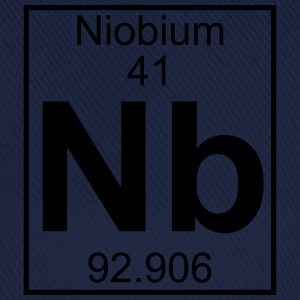 Periodic table element 41 - Nb (niobium) - BIG T-shirts - Baseballcap