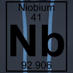 Periodic table element 41 - Nb (niobium) - BIG T-shirts - Herre Premium hættetrøje