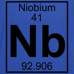 Periodic table element 41 - Nb (niobium) - BIG T-shirts - Tanktopp dam från Bella