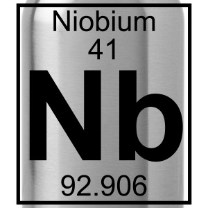 Periodic table element 41 - Nb (niobium) - BIG Koszulki - Bidon