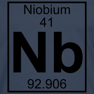 Periodic table element 41 - Nb (niobium) - BIG T-shirts - Långärmad premium-T-shirt herr