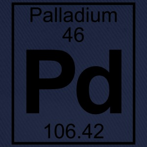 Periodic table element 46 - Pd (palladium) - BIG T-skjorter - Baseballcap
