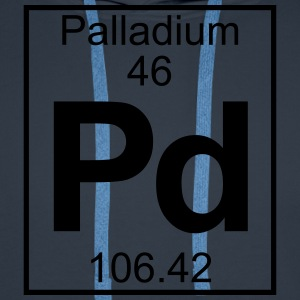 Periodic table element 46 - Pd (palladium) - BIG T-shirts - Herre Premium hættetrøje