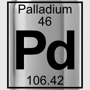 Periodic table element 46 - Pd (palladium) - BIG Koszulki - Bidon