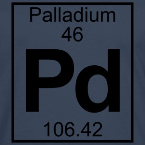 Periodic table element 46 - Pd (palladium) - BIG T-shirts - Herre premium T-shirt med lange ærmer