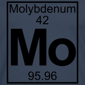 Periodic table element 42 -   (molybdenum) - BIG T-shirts - Herre premium T-shirt med lange ærmer