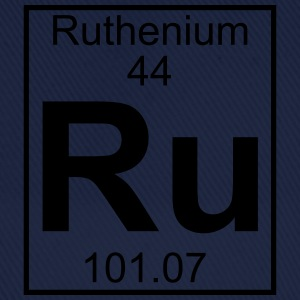 Periodic table element 44 - Ru (ruthenium) - BIG T-shirts - Baseballcap