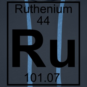 Periodic table element 44 - Ru (ruthenium) - BIG T-shirts - Herre Premium hættetrøje