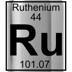 Periodic table element 44 - Ru (ruthenium) - BIG Koszulki - Bidon