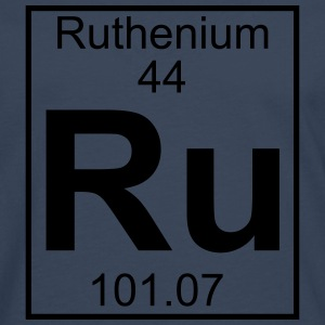 Periodic table element 44 - Ru (ruthenium) - BIG T-shirts - Herre premium T-shirt med lange ærmer