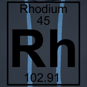 Periodic table element 45 - Rh (rhodium) - BIG T-shirts - Herre Premium hættetrøje
