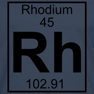 Periodic table element 45 - Rh (rhodium) - BIG T-shirts - Herre premium T-shirt med lange ærmer