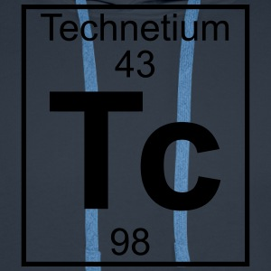 Periodic table element 43 - Tc (technetium) - BIG T-shirts - Herre Premium hættetrøje