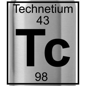 Periodic table element 43 - Tc (technetium) - BIG Koszulki - Bidon