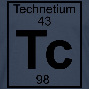 Periodic table element 43 - Tc (technetium) - BIG T-shirts - Herre premium T-shirt med lange ærmer