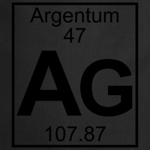 Periodic table element 47 - Ag (argentum) - BIG T-shirts - Forklæde