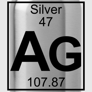 Periodic table element 47 - Ag (silver) - BIG T-shirts - Drinkfles