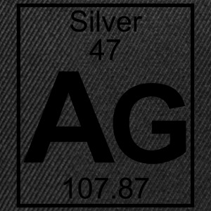 Periodic table element 47 - Ag (silver) - BIG T-shirts - Snapbackkeps