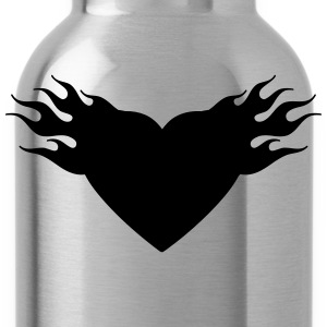 burning heart T-Shirts - Trinkflasche