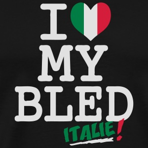 I love MY BLED Italie Hoodies - Men's Premium T-Shirt