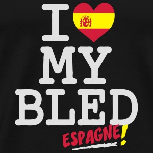 I love MY BLED Espagne Hoodies & Sweatshirts - Men's Premium T-Shirt
