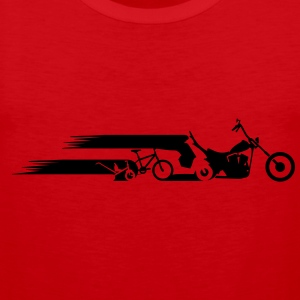 Motorcycle chopper tail evolution  T-Shirts - Men's Premium Tank Top